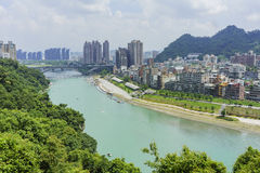 Bitan Scenic Area with beautiful rivers Royalty Free Stock Images
