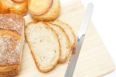 Bitande bröd Arkivfoton