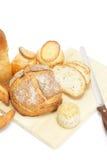 Bitande bröd Arkivbild