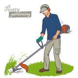 Bitande gräsbeskärare Royaltyfria Bilder