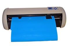 Bitande maskin för vinylplottare Isolerat med den fäste PNG-mappen arkivfoton