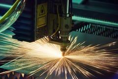 Bitande metallarbete för laser Royaltyfri Foto