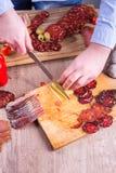 Bitande paprika för matgarnering Arkivfoto