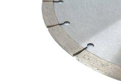 Bitande skivor med diamanter - diamantdisketter för betong som isoleras på den vita bakgrunden Royaltyfria Foton