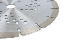Bitande skivor med diamanter - diamantdisketter för betong som isoleras på den vita bakgrunden Royaltyfria Bilder