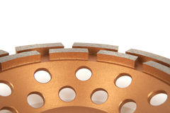 Bitande skivor med diamanter - diamantdisketter för betong som isoleras på den vita bakgrunden Royaltyfri Bild