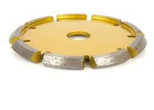 Bitande skivor med diamanter - diamantdisketter för betong som isoleras på den vita bakgrunden Fotografering för Bildbyråer