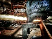 Bitande stål Fotografering för Bildbyråer