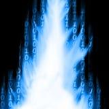 Bitar och byte, en datastream stock illustrationer