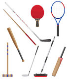 Bitar och pinne till sportvektorillustrationen Arkivbilder