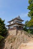 Bitchu松山城堡,高桥, Ja Ku没有hirayagura塔  库存照片