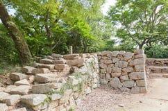 Bitchu松山城堡, Takahash Ku没有hirayagura塔站点  库存照片