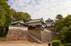 Bitchu Matsuyama (Takahashi) slott, Takahashi stad, Japan Fotografering för Bildbyråer