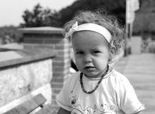 Bitchy. A little girl be in a bad mood Royalty Free Stock Photo