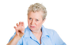 Bitchy old woman Stock Image