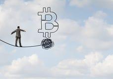 Bitcoin不确定性 皇族释放例证