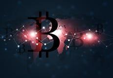 Bitcoin世界货币 库存照片