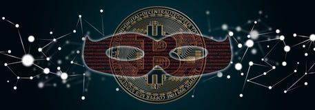 bitcoin乱砍的概念 向量例证