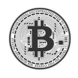 Bitcoin传染媒介商标 免版税图库摄影