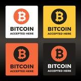 Bitcoin传染媒介商标 免版税库存图片