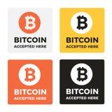 Bitcoin传染媒介商标 库存图片