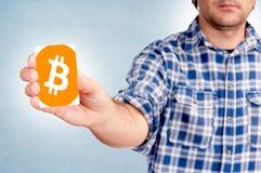Bitcoin卡片 图库摄影