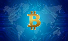 Bitcoin国际性组织金钱 向量 向量例证