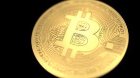 Bitcoin在黑背景隔绝了 3d例证 向量例证