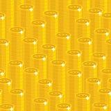 Bitcoin堆无缝的样式 免版税图库摄影