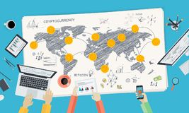 Bitcoin市场 向量例证