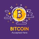 Bitcoin拷贝 库存图片