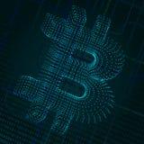 Bitcoin数字式标志 免版税库存图片