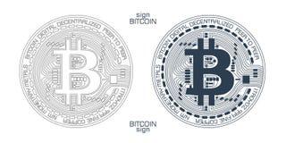 Bitcoin标志传染媒介 库存图片