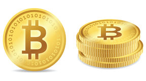 Bitcoin标志 库存图片