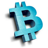 bitcoin标志 图库摄影