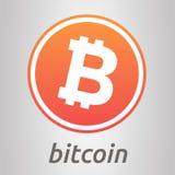 Bitcoin桔子商标 免版税库存照片