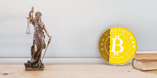 Bitcoin正义和法律 库存图片