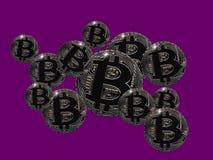 Bitcoin泡影 免版税库存图片