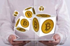 bitcoin的概念 免版税库存图片