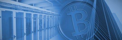 bitcoin的综合图象 库存图片