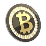 Bitcoin被隔绝的货币符号硬币 图库摄影