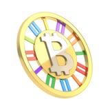 Bitcoin被隔绝的货币符号硬币 库存图片