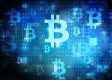 Bitcoin采矿 库存照片