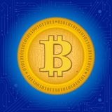 Bitcoin隐藏硬币 库存照片