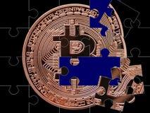 Bitcoin难题 库存照片