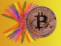 Bitcoin颜色 图库摄影