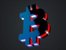 Bitcoin黑色标志 免版税库存图片