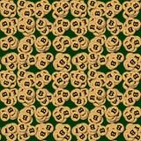 Bitcoin,堆cryptocurrencies 免版税库存图片