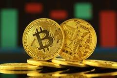 Bitcoin,新的真正金钱的物理版本 免版税库存照片