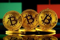 Bitcoin,新的真正金钱的物理版本 库存照片